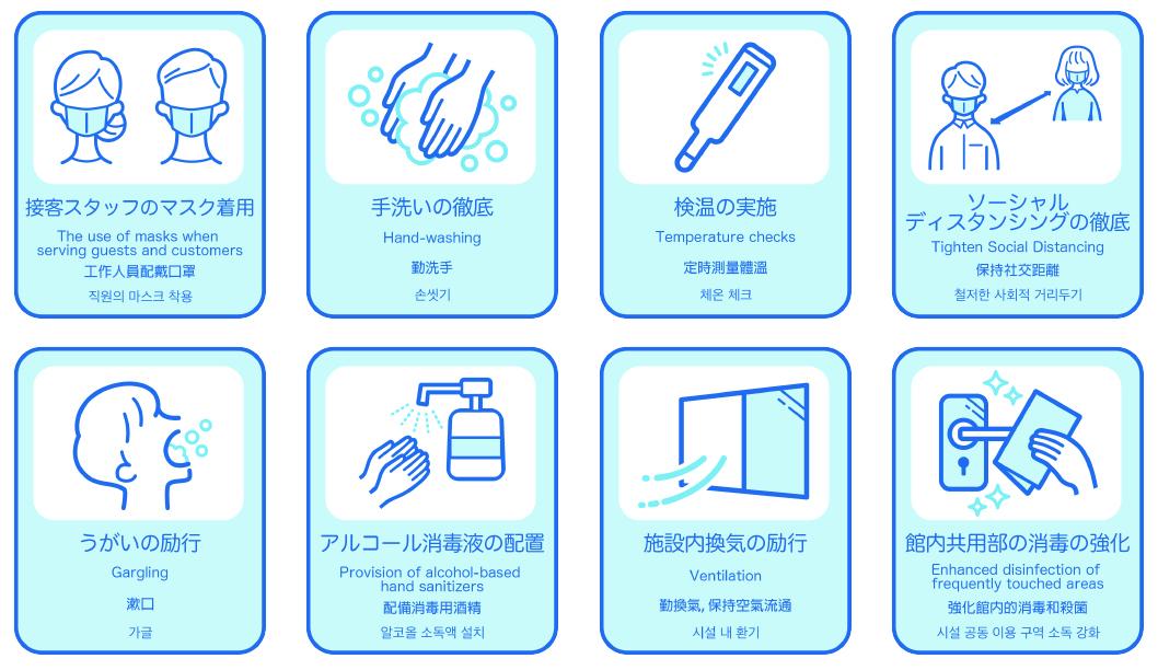 新型コロナウィルス対策について』 ホテルメルパルク京都
